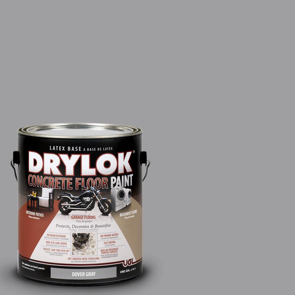 Floor Paint Home Depot Drylok 1 Gal Dover Gray Latex Concrete Floor Paint