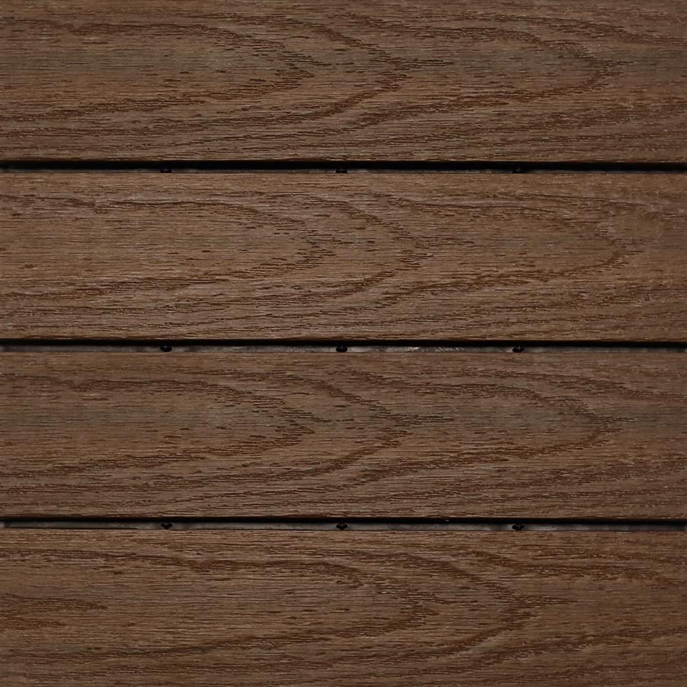 Interlocking Deck Tiles Newtechwood Ultrashield Naturale 1 Ft X 1 Ft Quick Deck Outdoor Composite Deck Tile In Brazilian Ipe 10 Sq Ft Per Box