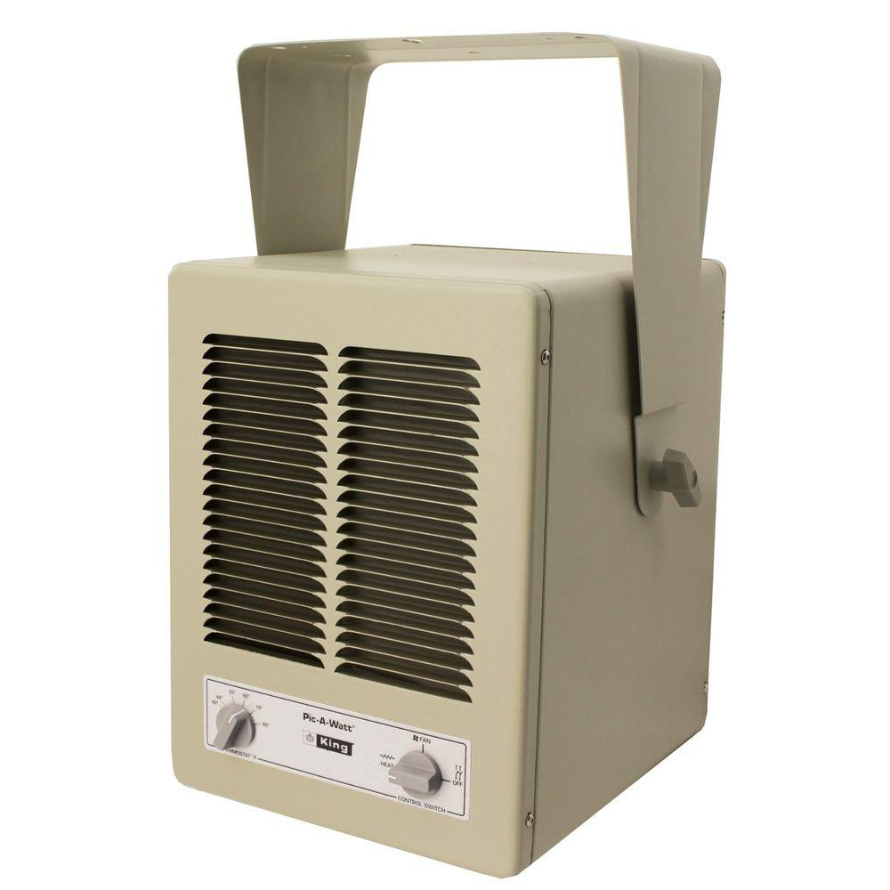 King Electric Garage Heater King 5700 Watt 240 Volt Single Phase Paw Garage Portable Heater With Built In Thermostat