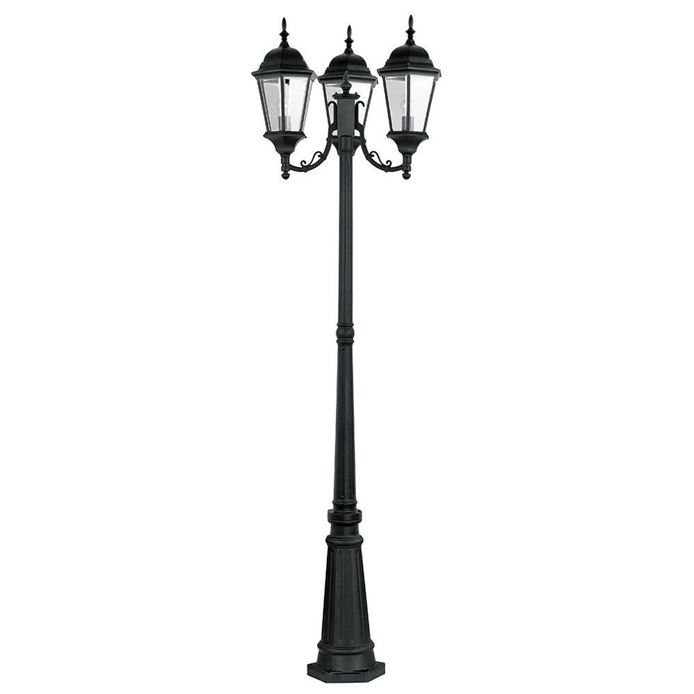 Lampadaire Exterieur Home Hardware Livex Lighting Providence 3-light Outdoor Black