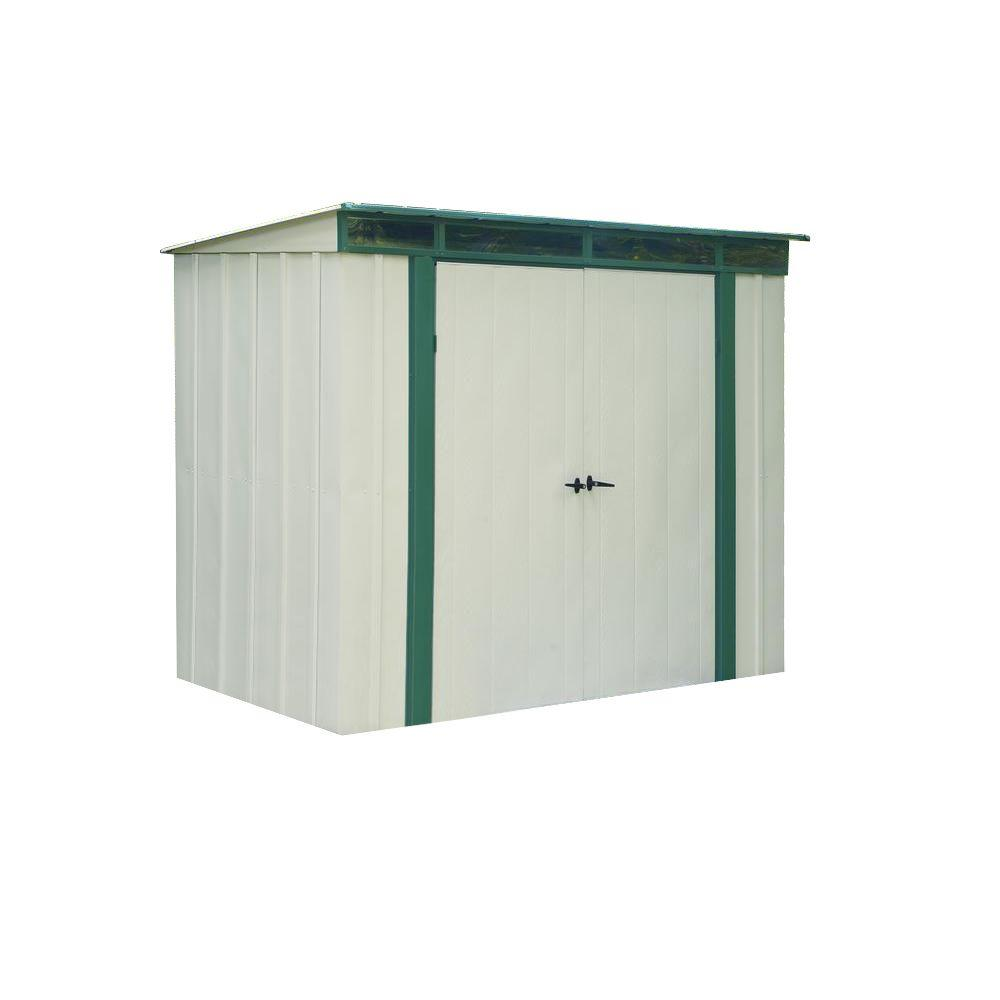 Steel Storage Sheds Arrow Eurolite Lean Too 6 Ft X 4 Ft Steel Storage Shed