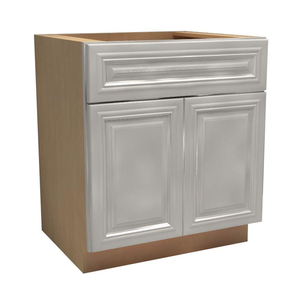 Kitchen Cabinet Drawers Home Decorators Collection Coventry Assembled 24x34 5x24 In Double Door Base Kitchen Cabinet Drawer 2 Rollout Trays In Pacific White