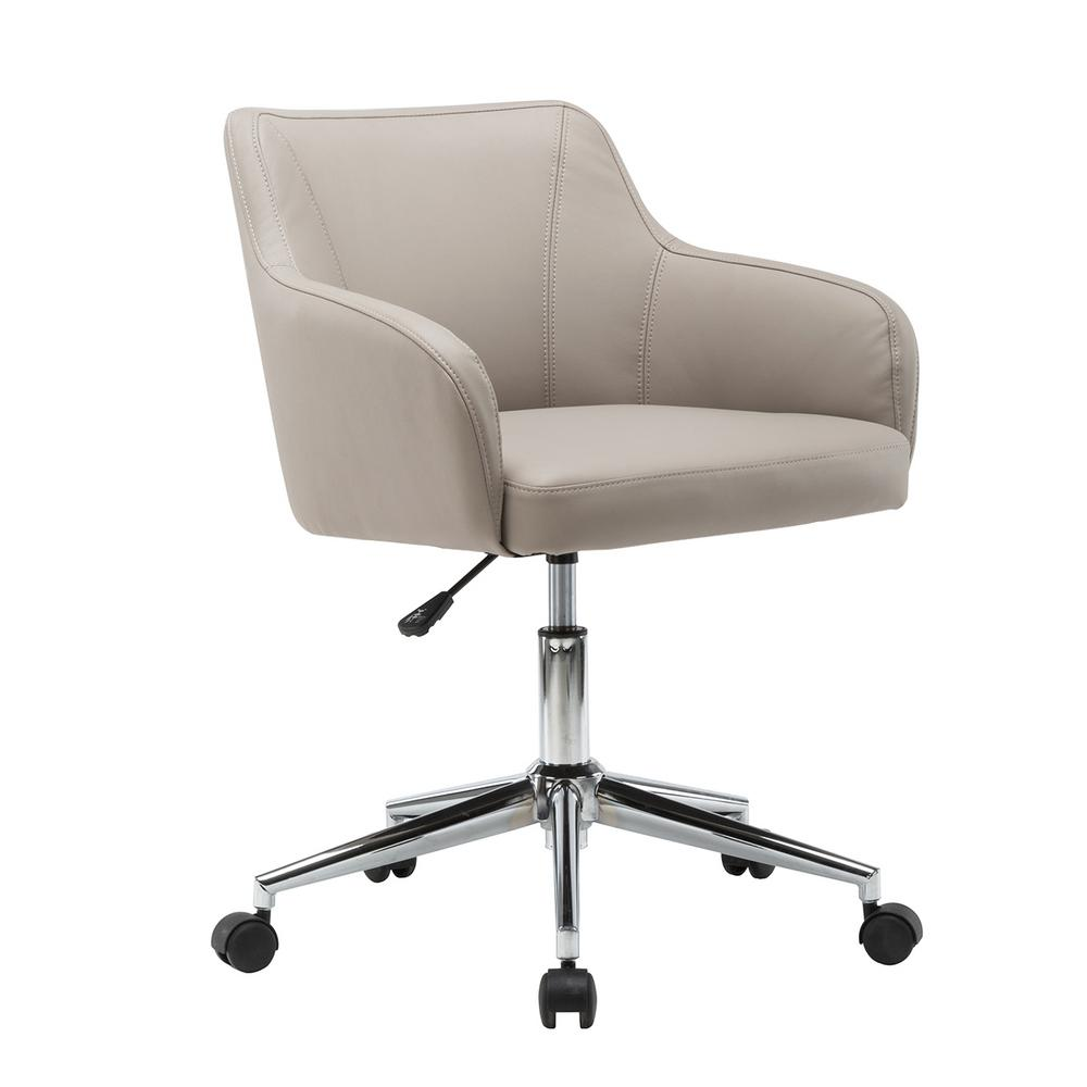 Chairs Comfortable Techni Mobili Beige Comfortable And Classy Modern Home Office Chair