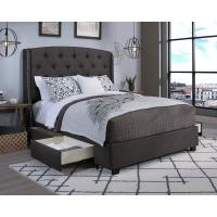 Peyton Grey Queen Upholstered Bed-12351-B - The Home Depot