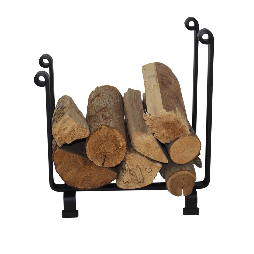 Outdoor Firewood Rack Enclume Handcrafted Indoor Outdoor Hearth Firewood Rack Black