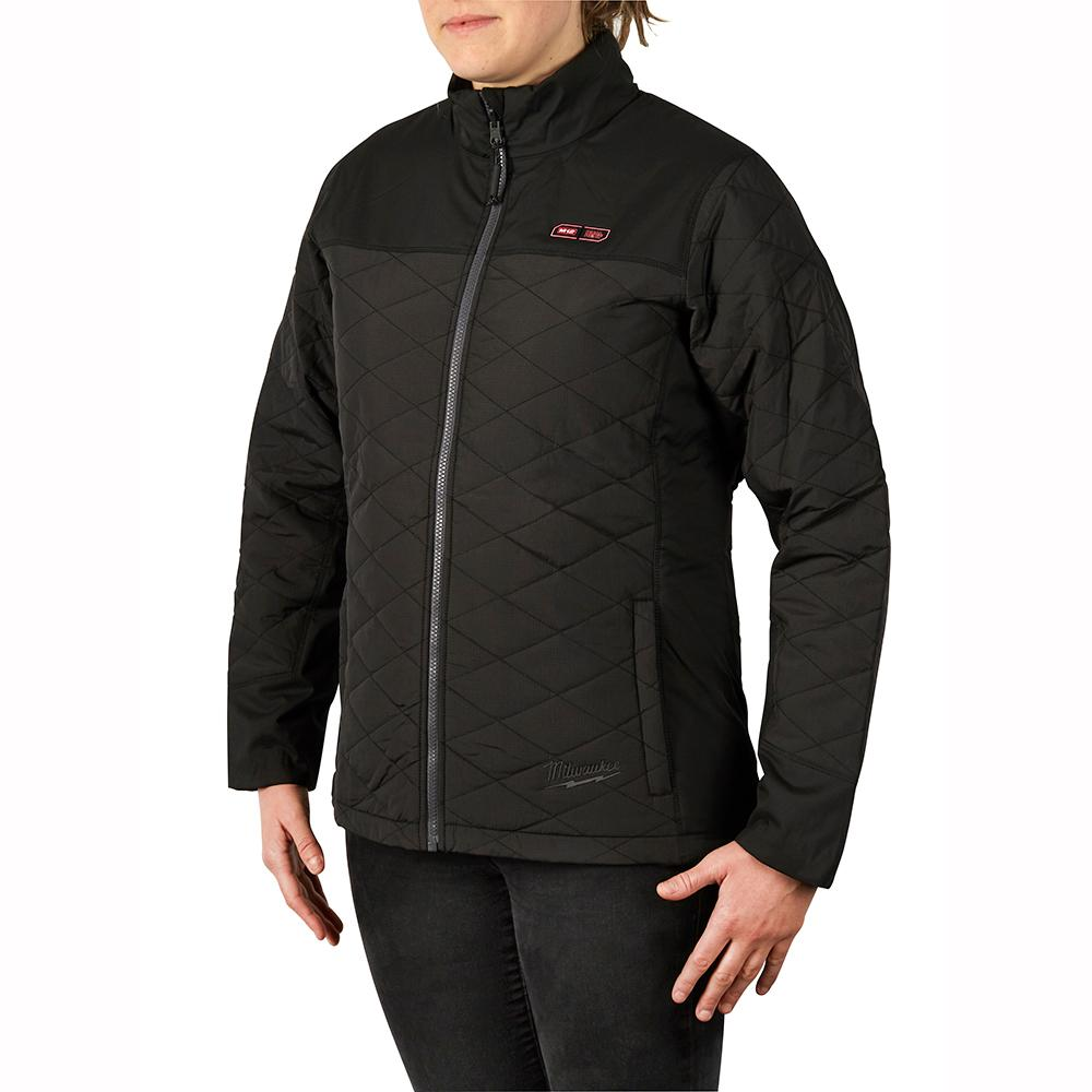 M12 Heated Jacket Milwaukee Women S Medium M12 12 Volt Lithium Ion Cordless Axis Black Heated Quilted Jacket Kit With 1 2 0ah Battery And Charger