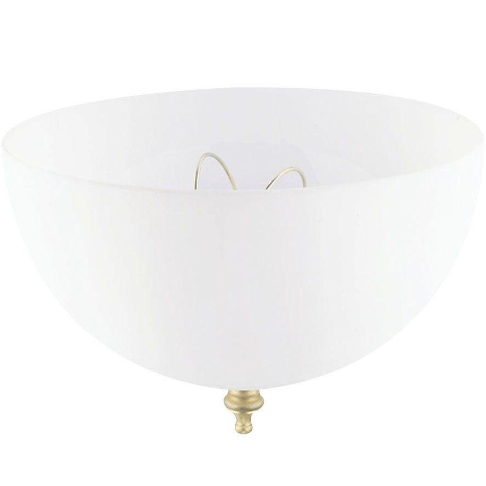 Ceiling Light Shades Westinghouse 4 3 4 In Acrylic White Dome Clip On Shade With 7 3 4 In Width