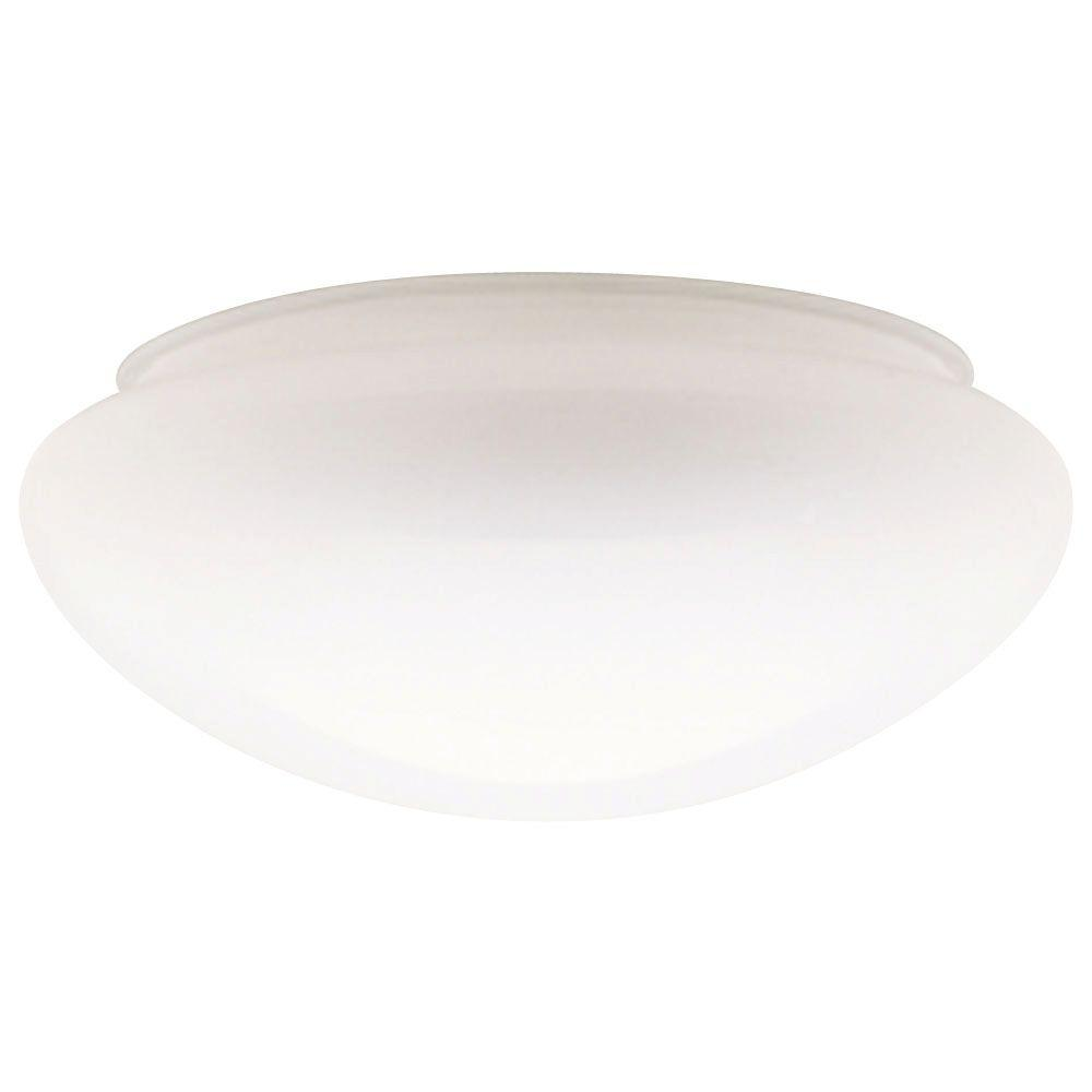 Ceiling Light Shades Westinghouse 4 In Handblown White Mushroom Shade With 8 In Fitter And 9 1 2 In Width
