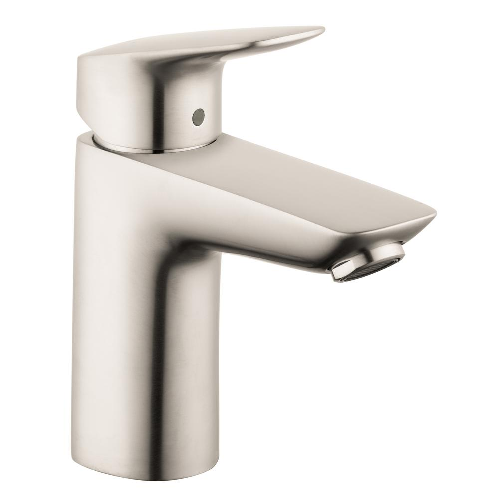 Hans Grohe Hansgrohe Logis 100 Single Hole Single Handle Bathroom Faucet With Drain In Brushed Nickel