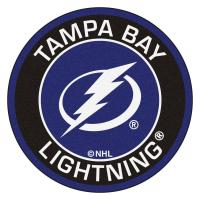 FANMATS NHL Tampa Bay Lightning Black 2 ft. x 2 ft. Round ...