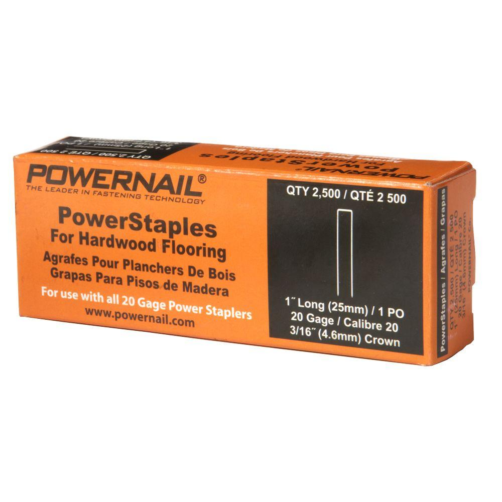 Plancher Home Depot Powernail 1 In X 20 Gauge Hardwood Flooring Powerstaples 2 500 Count