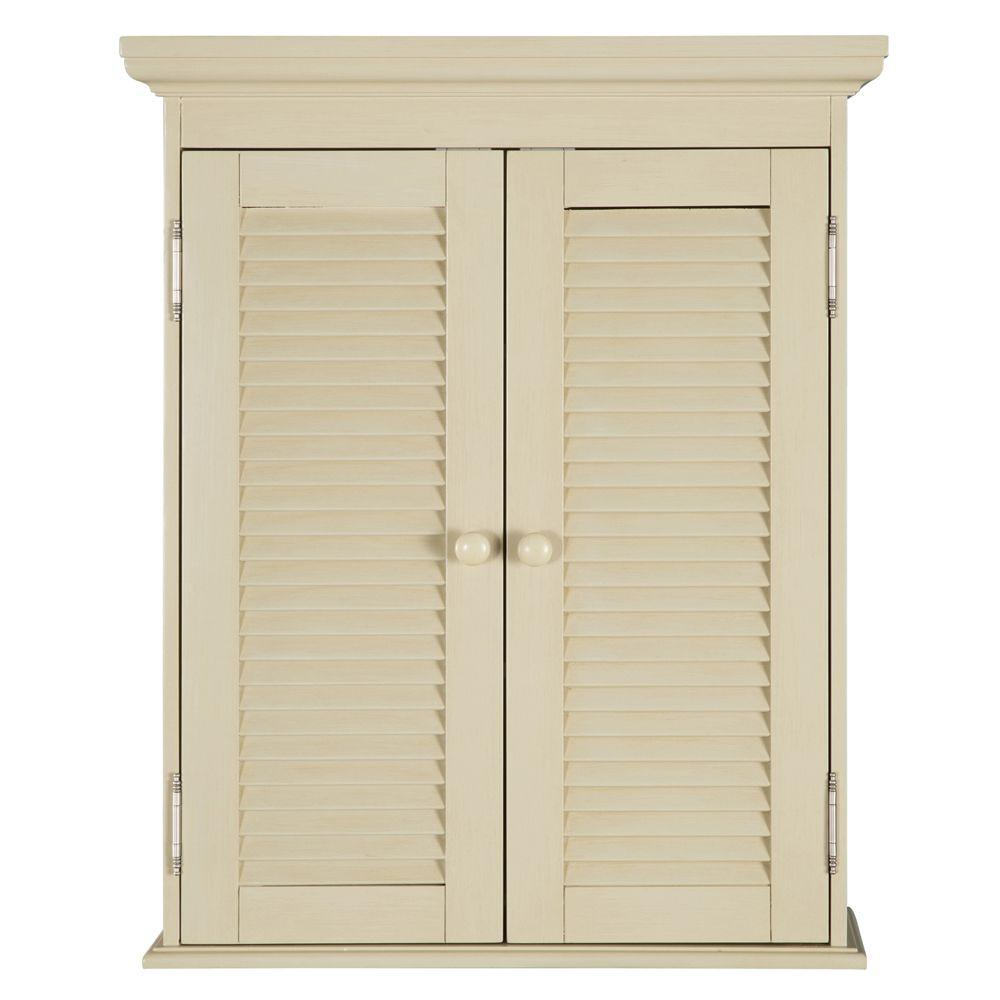 Home Decorators Collection Cottage 23 3 4 In W Bathroom Storage Wall Cabinet In Antique White Ctaw2429 The Home Depot