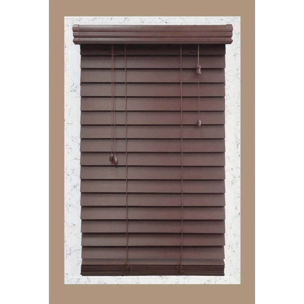 White Timber Blinds Wood Blinds Blinds The Home Depot