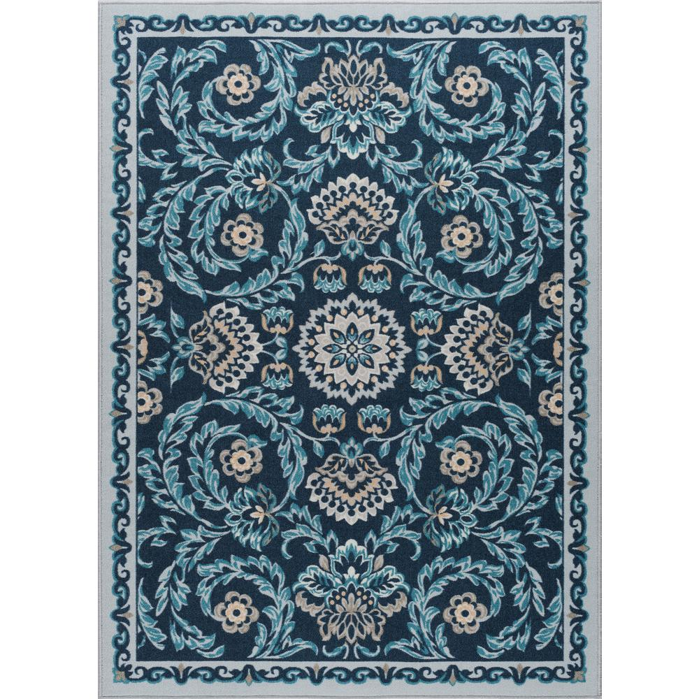 Review 4x6 Sofa Tayse Rugs Majesty Navy 4 Ft X 5 Ft Transitional Area Rug