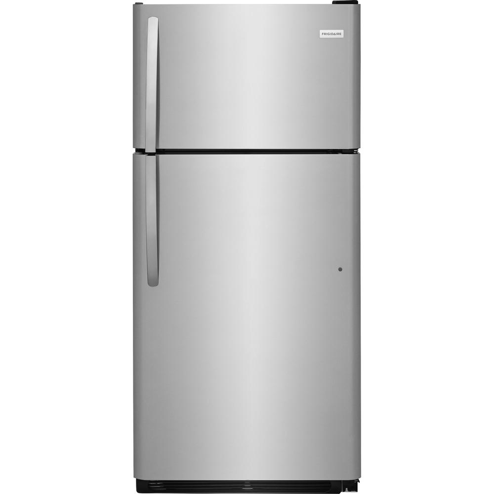 New Refrigerator Price Frigidaire 18 Cu Ft Top Freezer Refrigerator In Stainless Steel