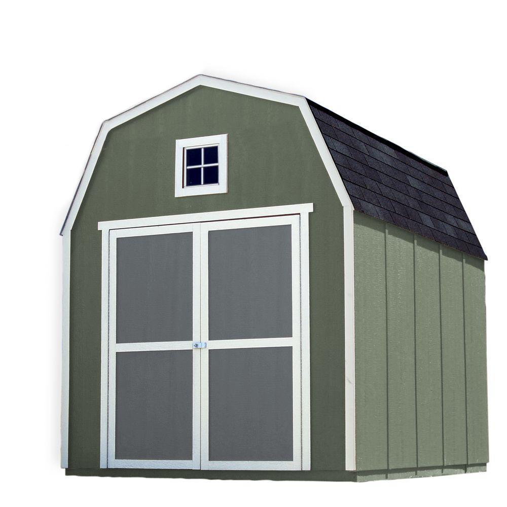Home Depot Sheds For Sale Handy Home Products Montana 8 Ft X 10 Ft Wood Storage Shed