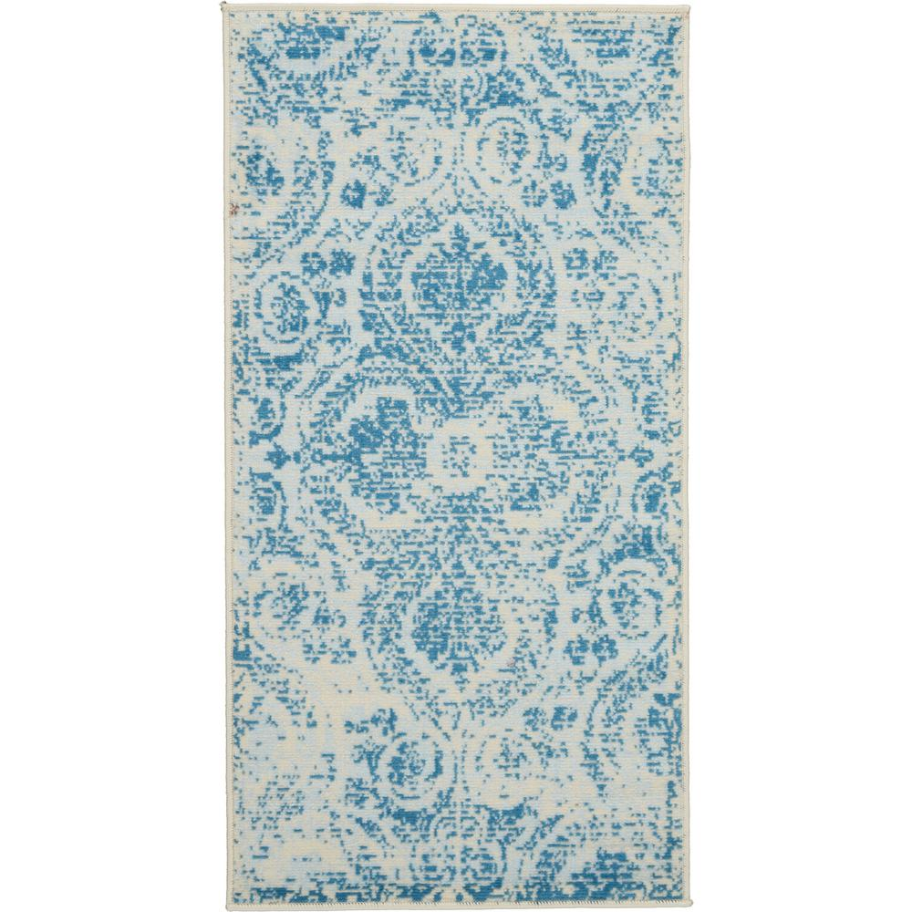 Teal Color Area Rugs Nourison Jubilant 2 X 4 Small Teal Blue Damask Area Rug