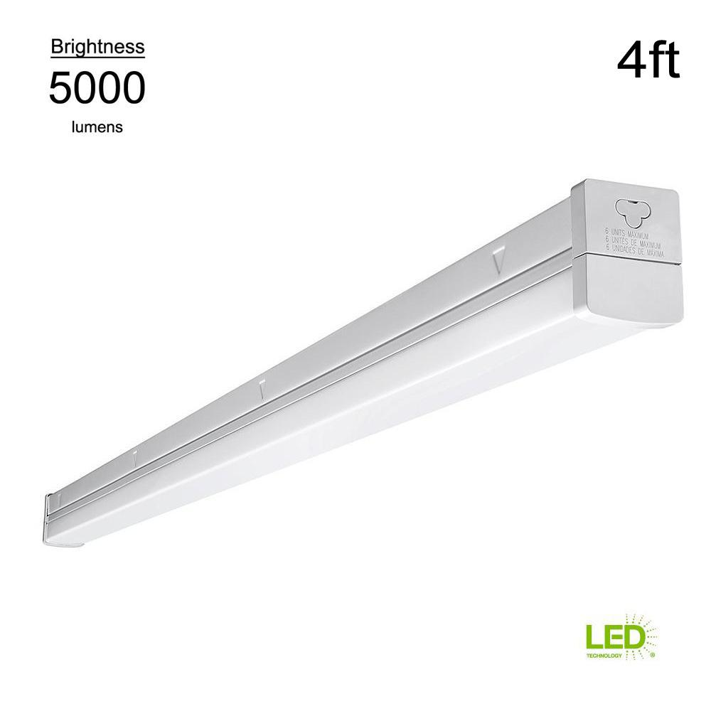 Strip Led Eti High Output Linkable 4 Ft White Integrated Led Strip Light Direct Wire Powered Plug In Multivolt