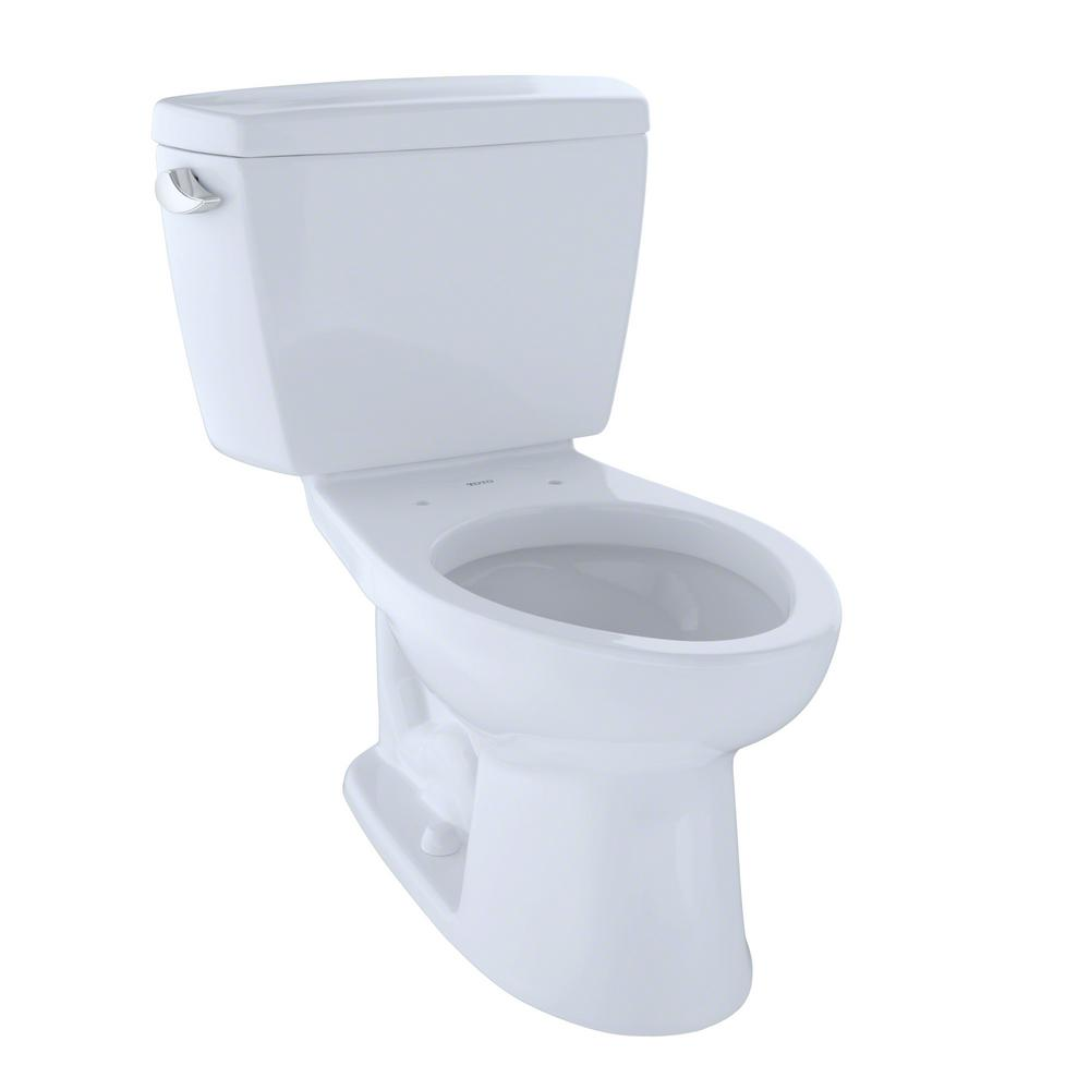 10 Inch Rough In Toilet Canada Toto Drake 2 Piece 1 6 Gpf Single Flush Elongated Toilet With 10 In Rough In In Cotton White