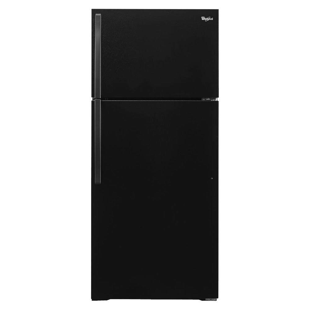 14 Cu Ft Refrigerator Whirlpool 14 Cu Ft Top Freezer Refrigerator In Black