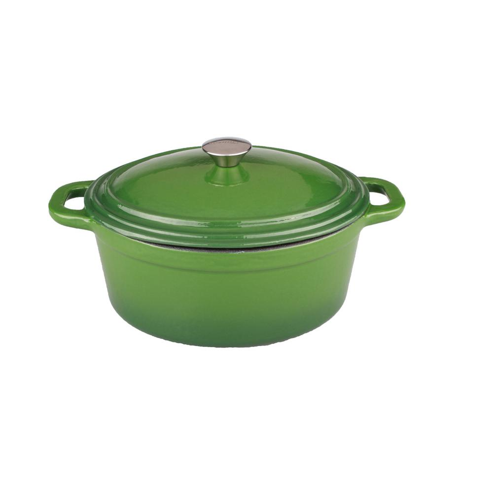 Cast Iron Casserole Dish Neo 8 Qt Green Oval Cast Iron Casserole Dish With Lid