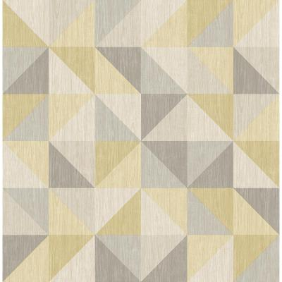 A-Street Puzzle Yellow Geometric Wallpaper Sample-2697-22623SAM - The Home Depot