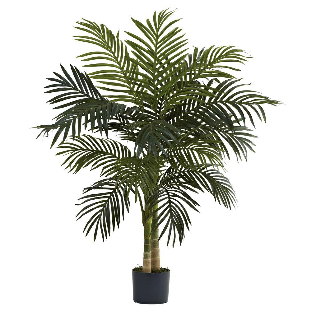 Home Depot Palm Trees Nearly Natural 4 Ft Golden Cane Palm Tree