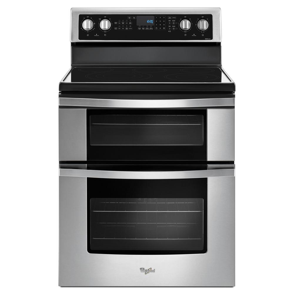 Whirlpool Oven Symbolen Whirlpool 6.7 Cu. Ft. Double Oven Electric Range With True