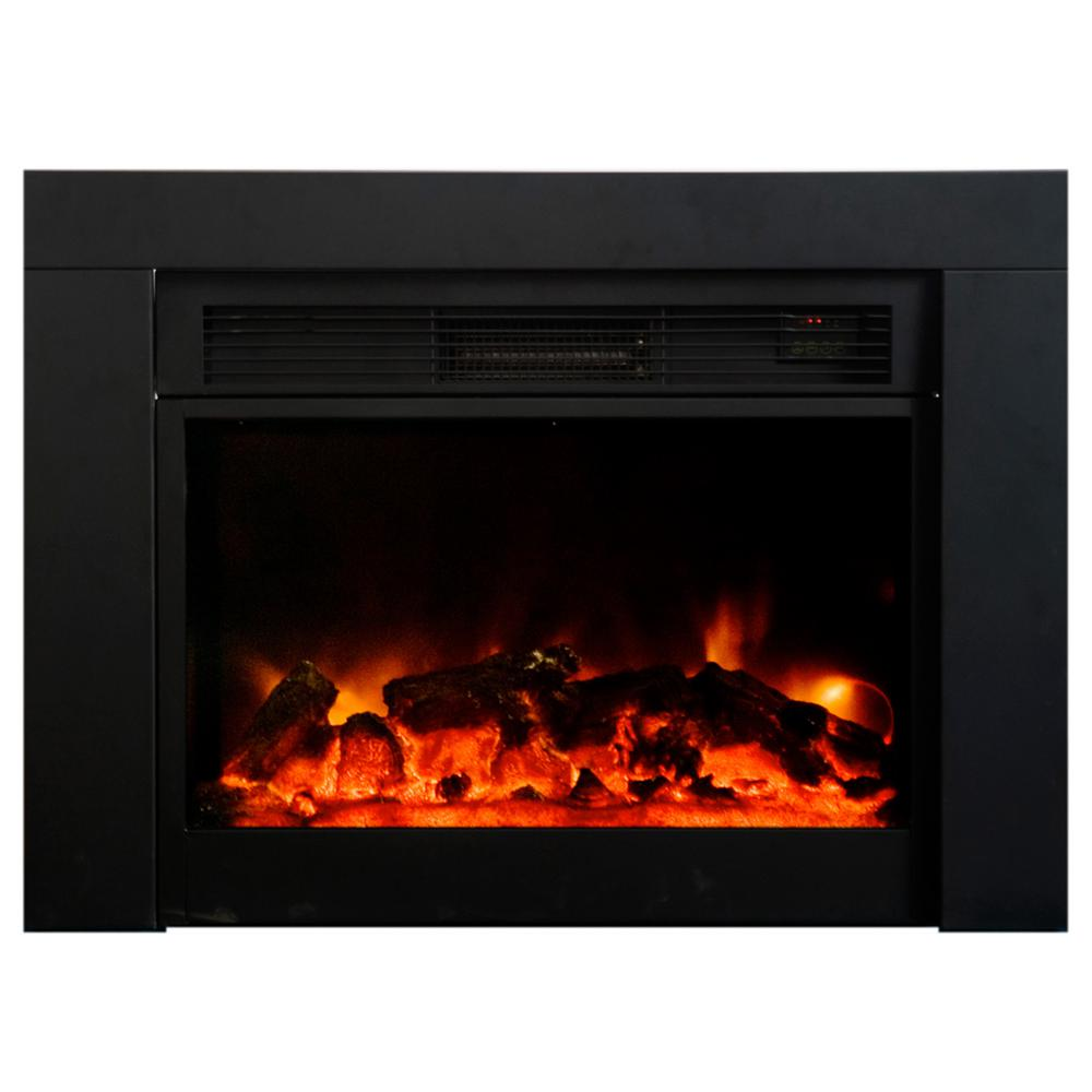Candles For Fireplace Insert Y Decor Uplifter 36 In Recessed Electric Fireplace In Black