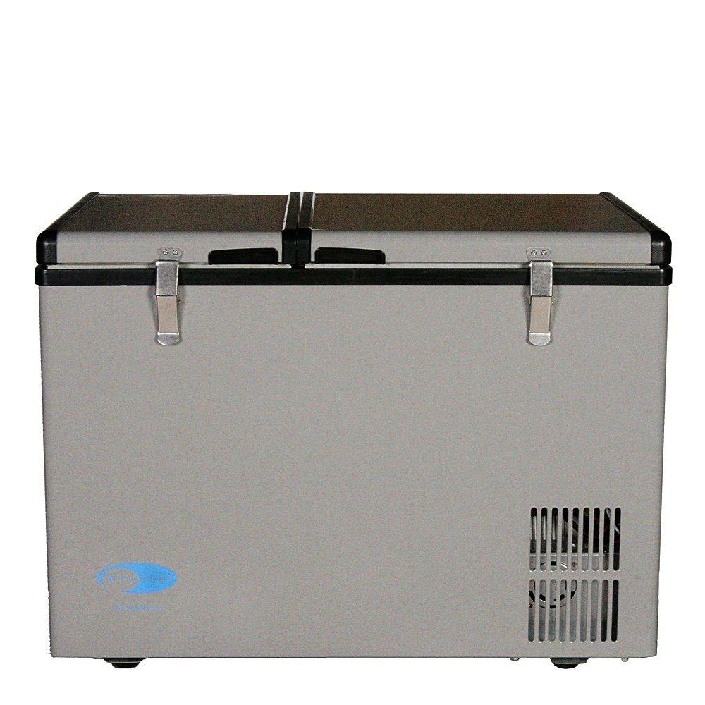 Small Portable Fridge Whynter 2 Cu Ft 62 Qt Dual Zone Portable Freezer In Gray