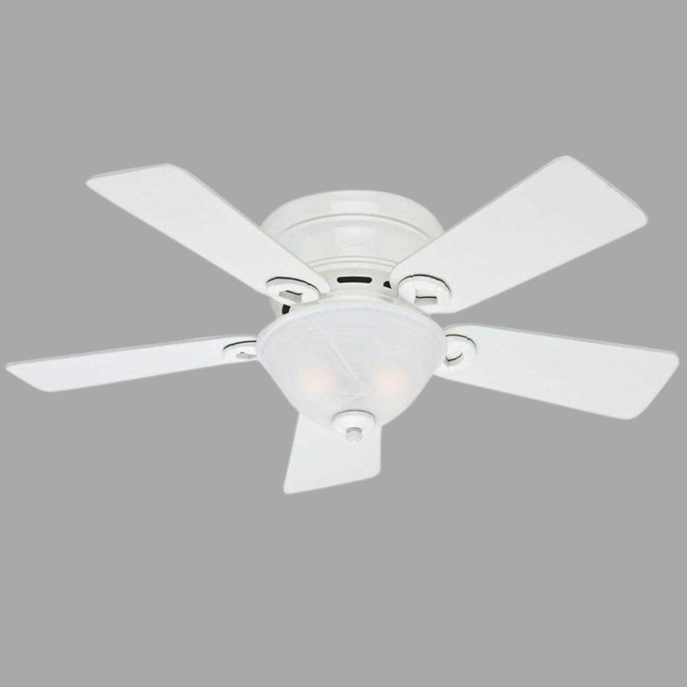 Hunter Conroy 42 in. Indoor White Low Profile Ceiling Fan
