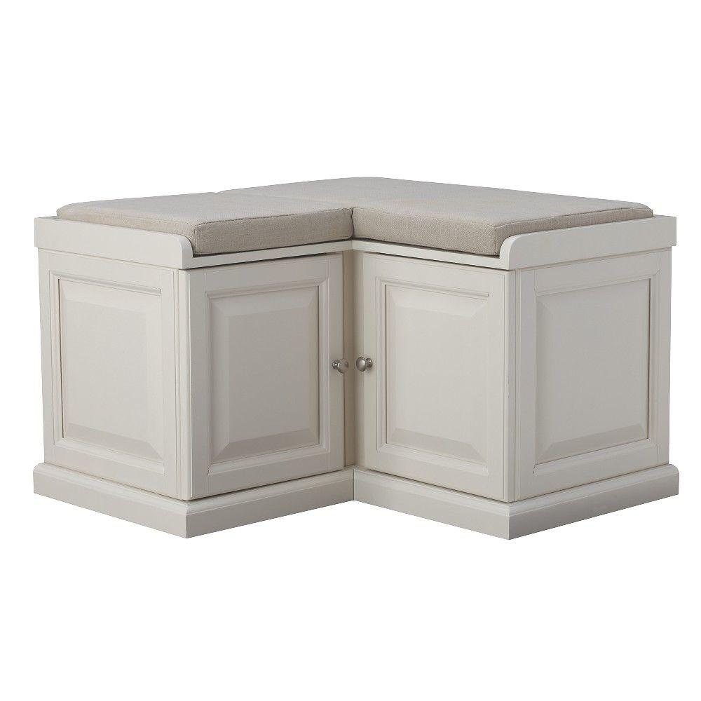 Seating With Storage Underneath Home Decorators Collection Walker White Storage Bench