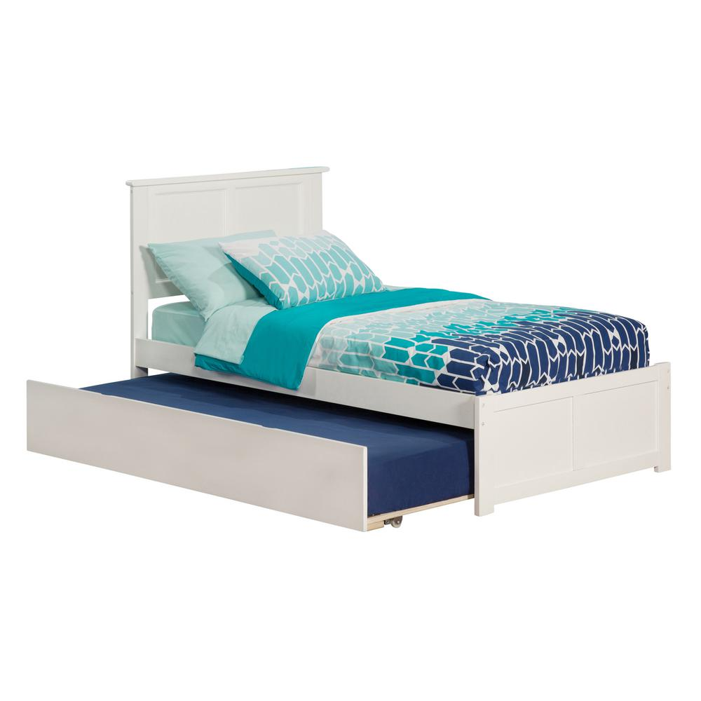 Discount Trundle Beds Atlantic Furniture Madison White Twin Platform Bed With Flat Panel Foot Board And Twin Size Urban Trundle Bed