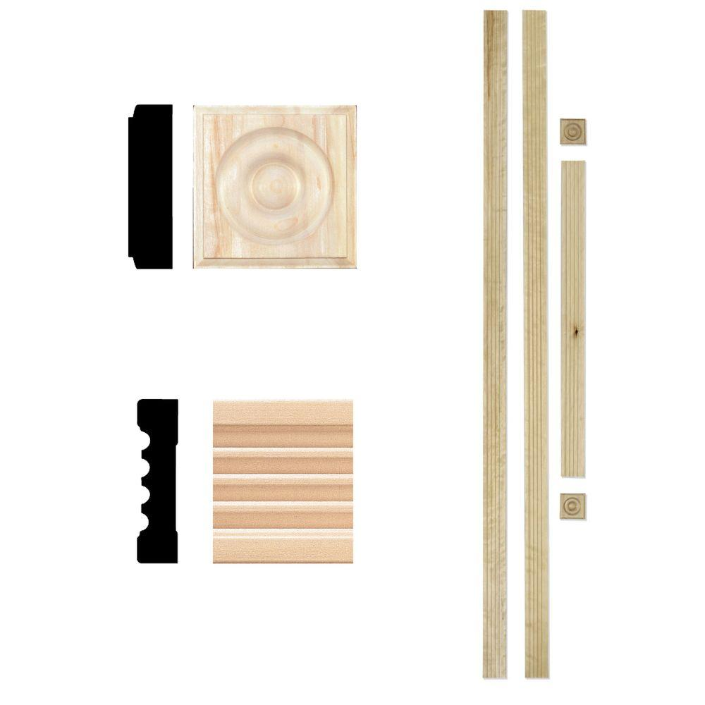 Home Depot Door Casing House Of Fara 3 4 In X 3 In X 7 Ft Hardwood Fluted Door Trim Set Casing
