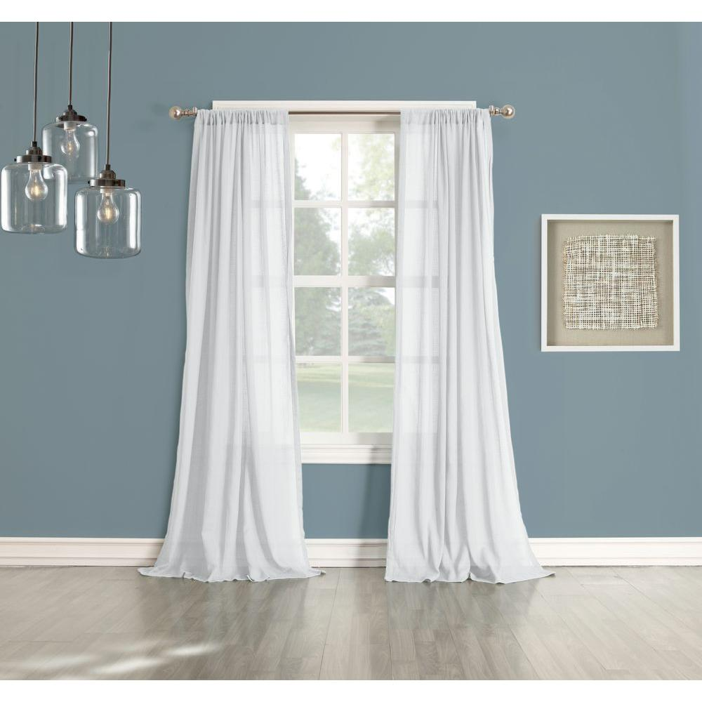 Cotton Curtain Panels Lichtenberg Sheer No 918 Millennial Henderson White Cotton Gauze Curtain Panel