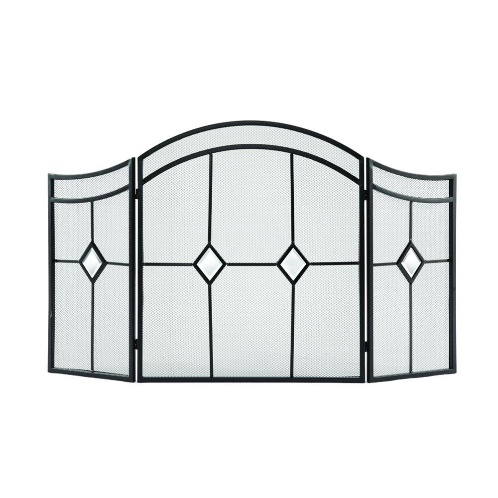 Fireplace Screen Home Depot Pleasant Hearth Diamond Espresso Steel 3 Panel Fireplace Screen