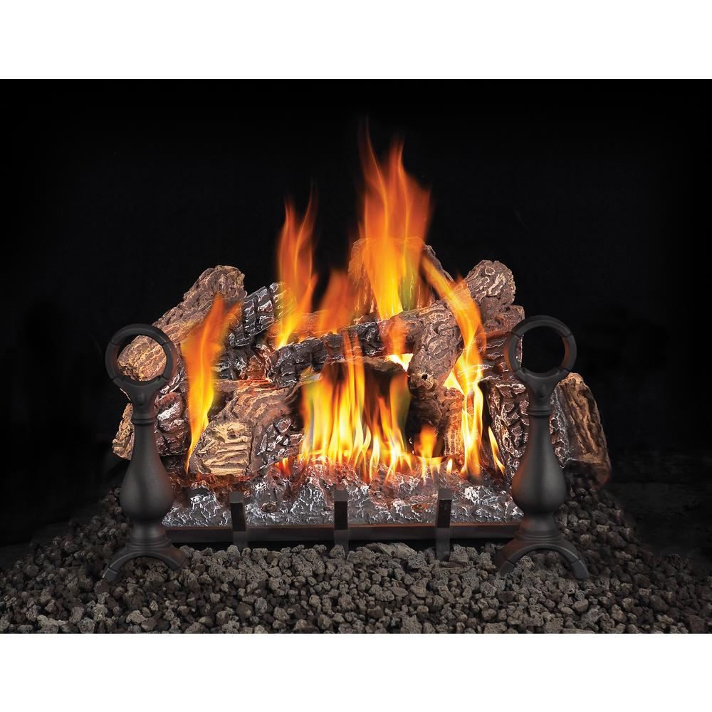Gas Fireplace Store Napoleon 18 In Vented Natural Gas Log Set With Electronic Ignition