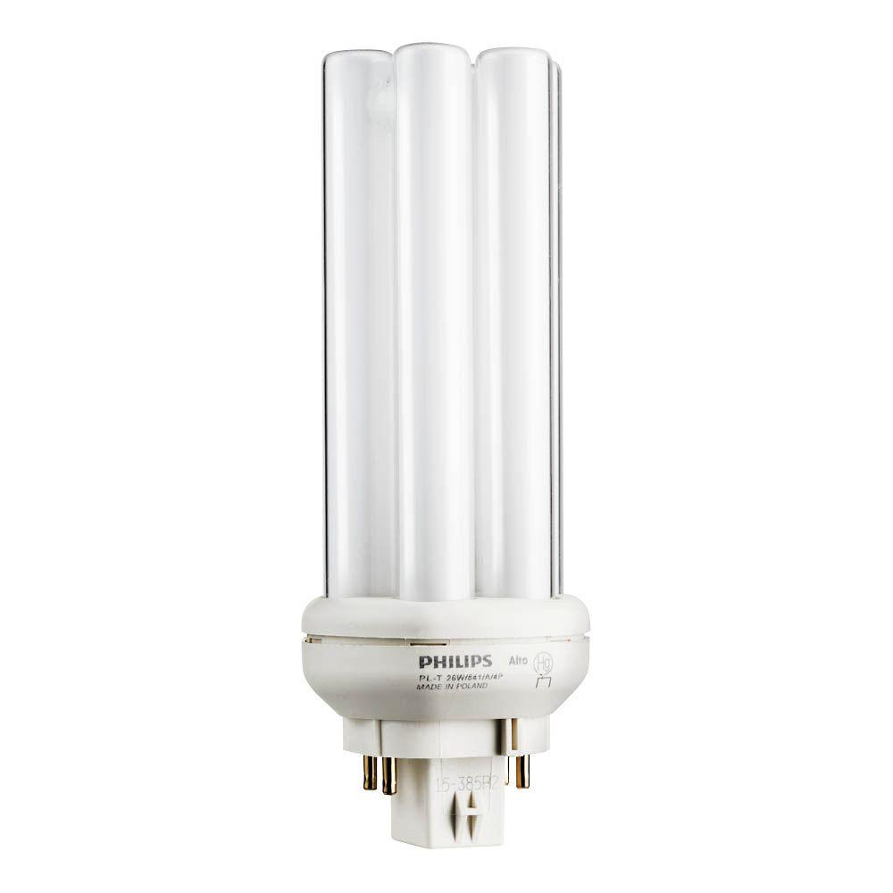 Bright Light Philips Philips 26 Watt Gx24q 3 Pl T Cfl Quad Amalgam Tube 4 Pin Light Bulb Bright White