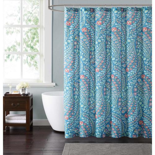 Medium Of Teal Shower Curtain