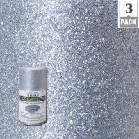 Testors CreateFX 2.5 oz. Silver Glitter Spray Paint (3 ...