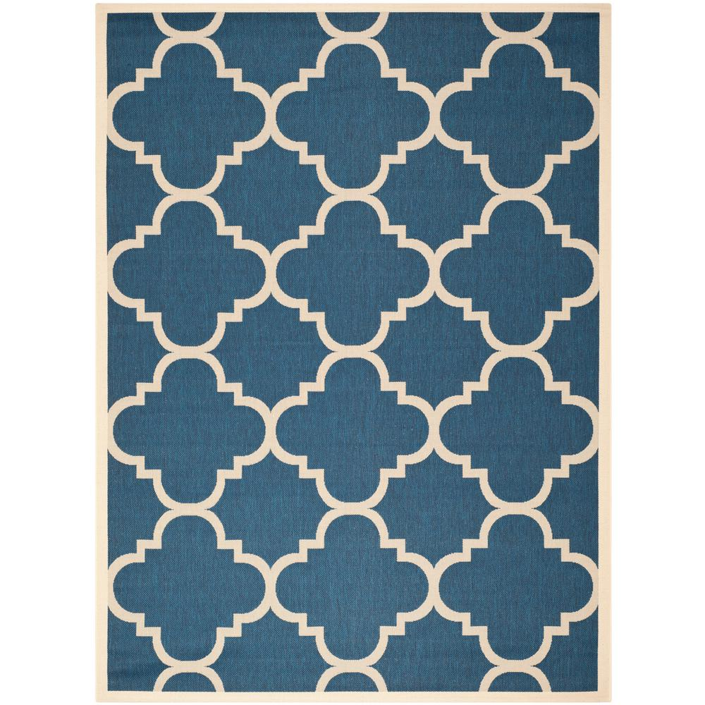 Safavieh Courtyard Safavieh Courtyard Navy Beige 8 Ft X 11 Ft Indoor Outdoor Area Rug
