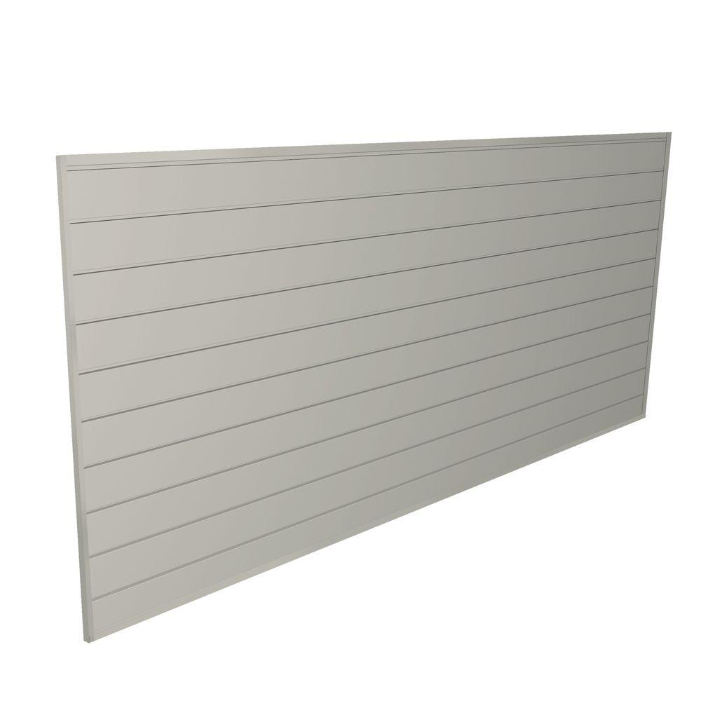 Slat Walls Proslat 32 Sq Ft 48 In H X 96 In W Sandstone Heavy Duty Slat Wall Panel Set Kit