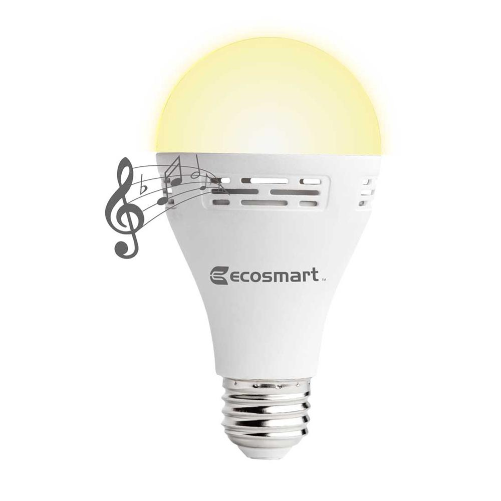 Jb Lighting A12 Used Ecosmart 40 Watt Equivalent A21 Non Dimmable Smart Bluetooth Speaker Led Light Bulb Soft White