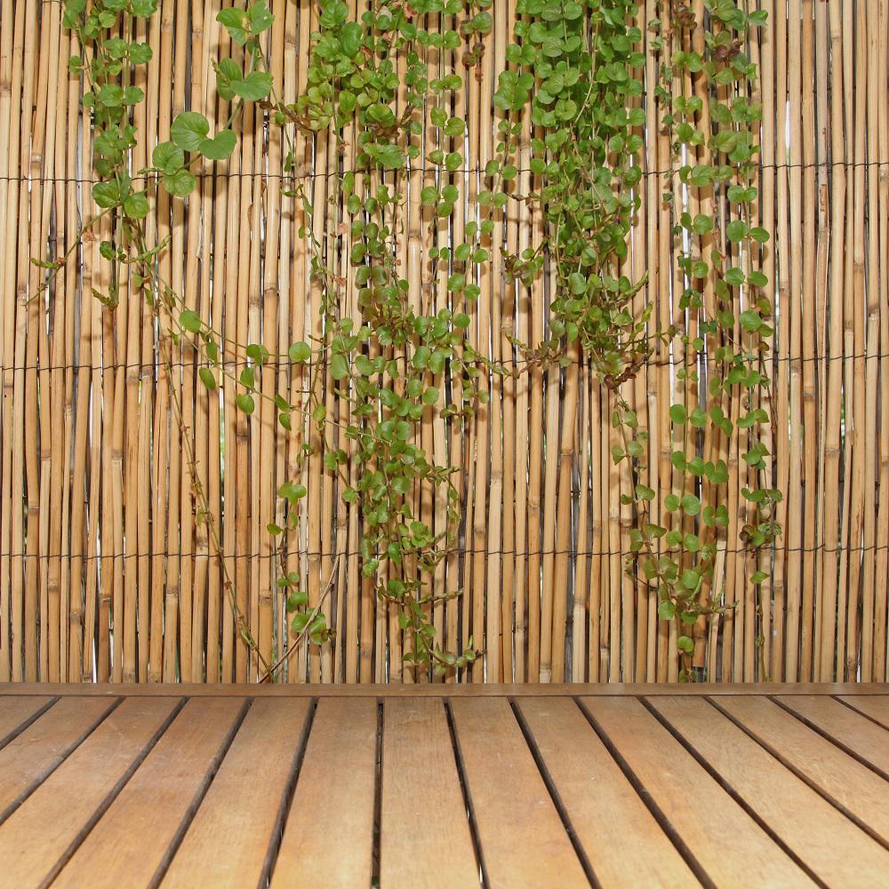 Bamboo Fence Canada Backyard X Scapes 6 Ft H X 16 Ft L Natural Jumbo Reed Bamboo Fencing