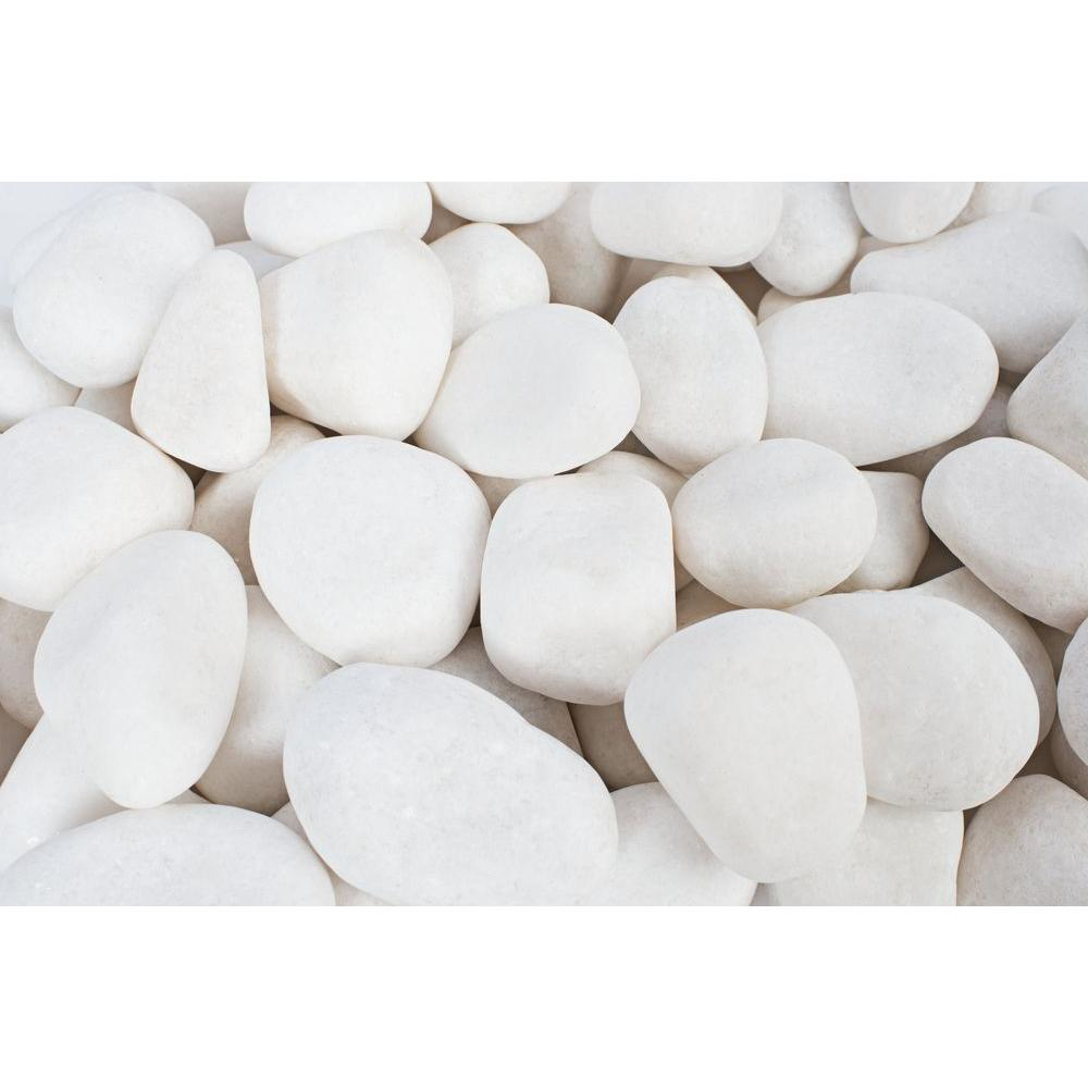 Pea Gravel Home Depot 5 In To 1 5 In 20 Lb Small Snow White Pebbles