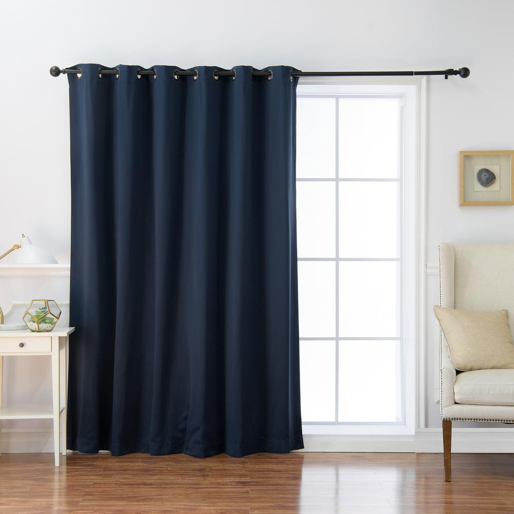 Dark Blue And Grey Curtains Blackout Curtains Curtains Drapes The Home Depot