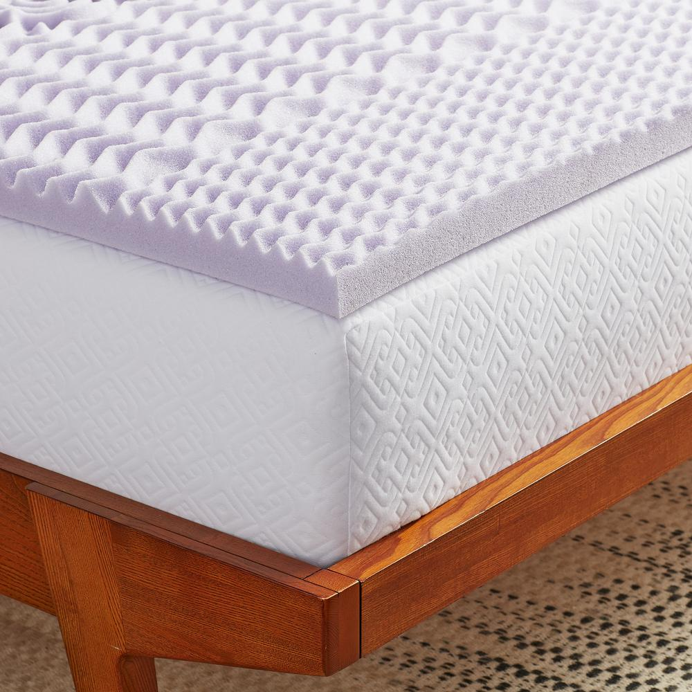 Bamboo Mattress Topper Review Lucid 4 In King Gel Infused Memory Foam Mattress Topper