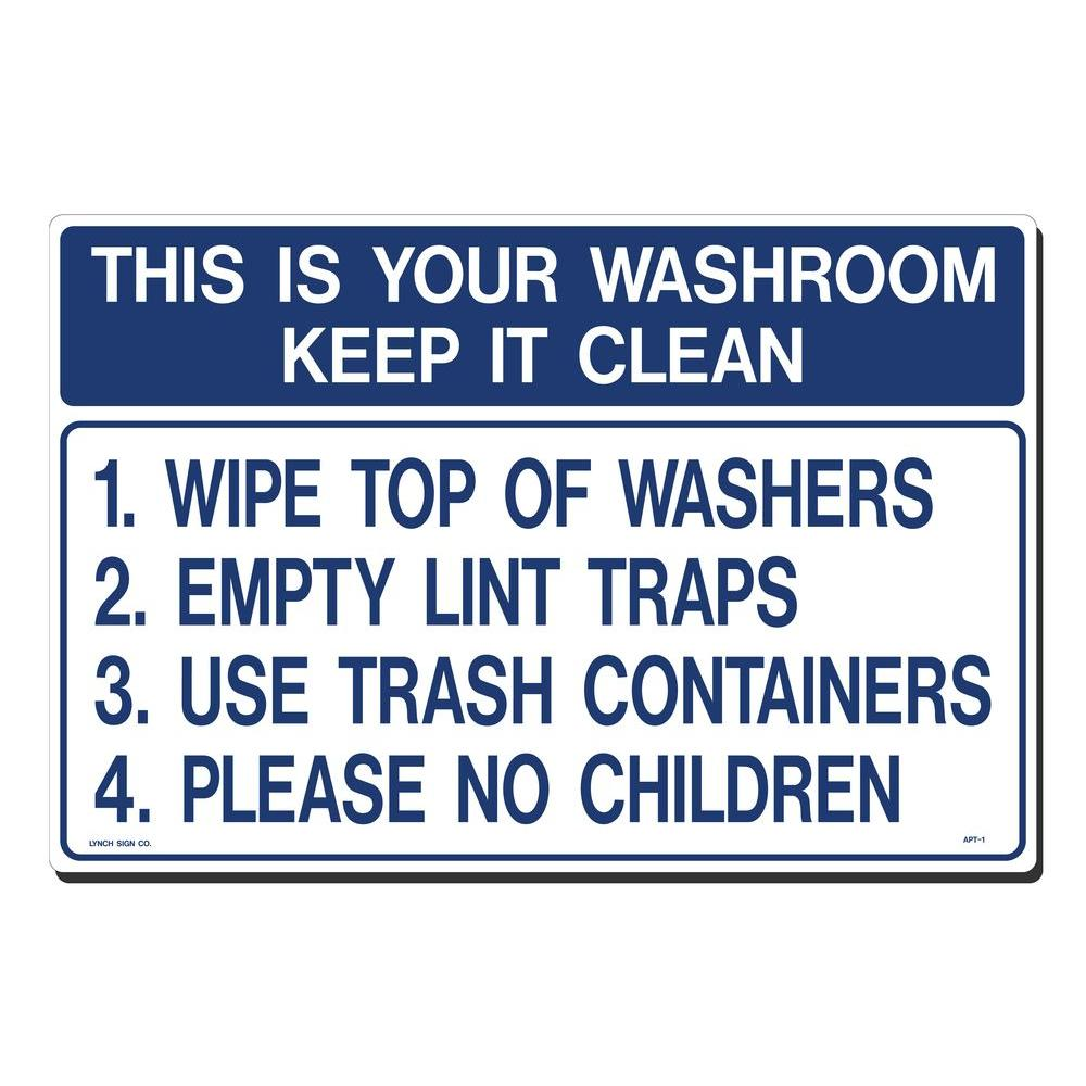 Keep It Clean Lynch Sign 18 In X 12 In Wash Room Keep It Clean Sign Printed On More Durable Thicker Longer Lasting Styrene Plastic