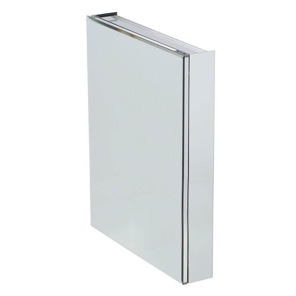 Medicine Cabinet Mirrors Pegasus 24 In W X 30 In H X 5 In D Frameless Recessed Or Surface Mount Bathroom Medicine Cabinet With Beveled Mirror