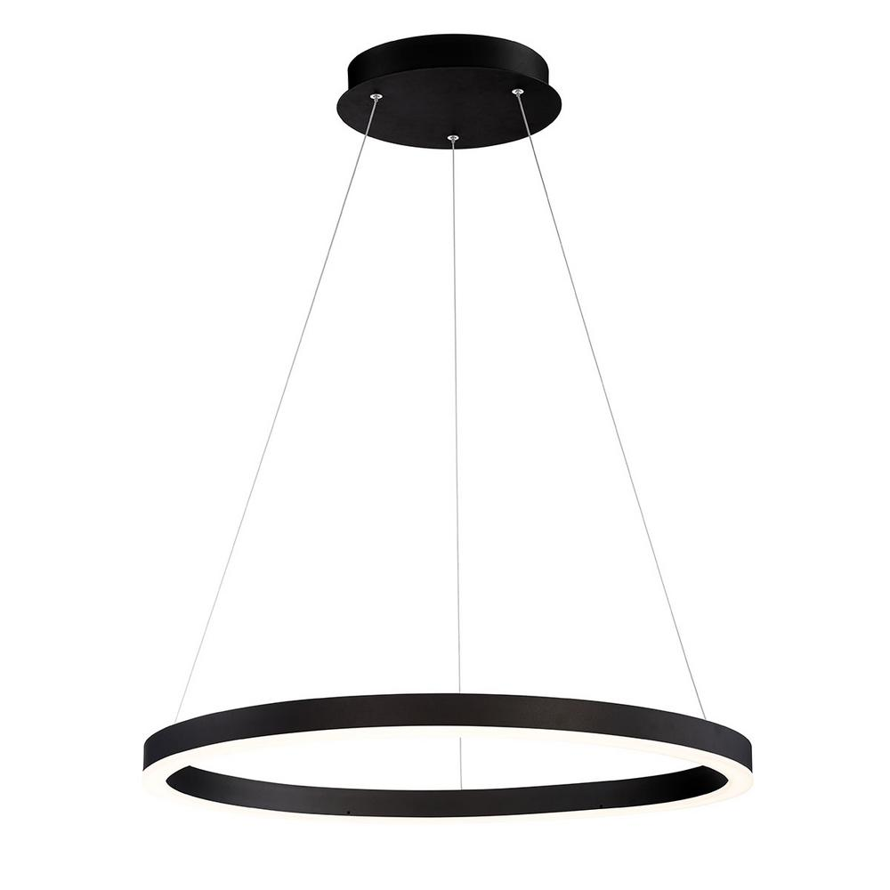 Small Simple Chandelier Eurofase Spunto 48 Watt Integrated Led Black Chandelier